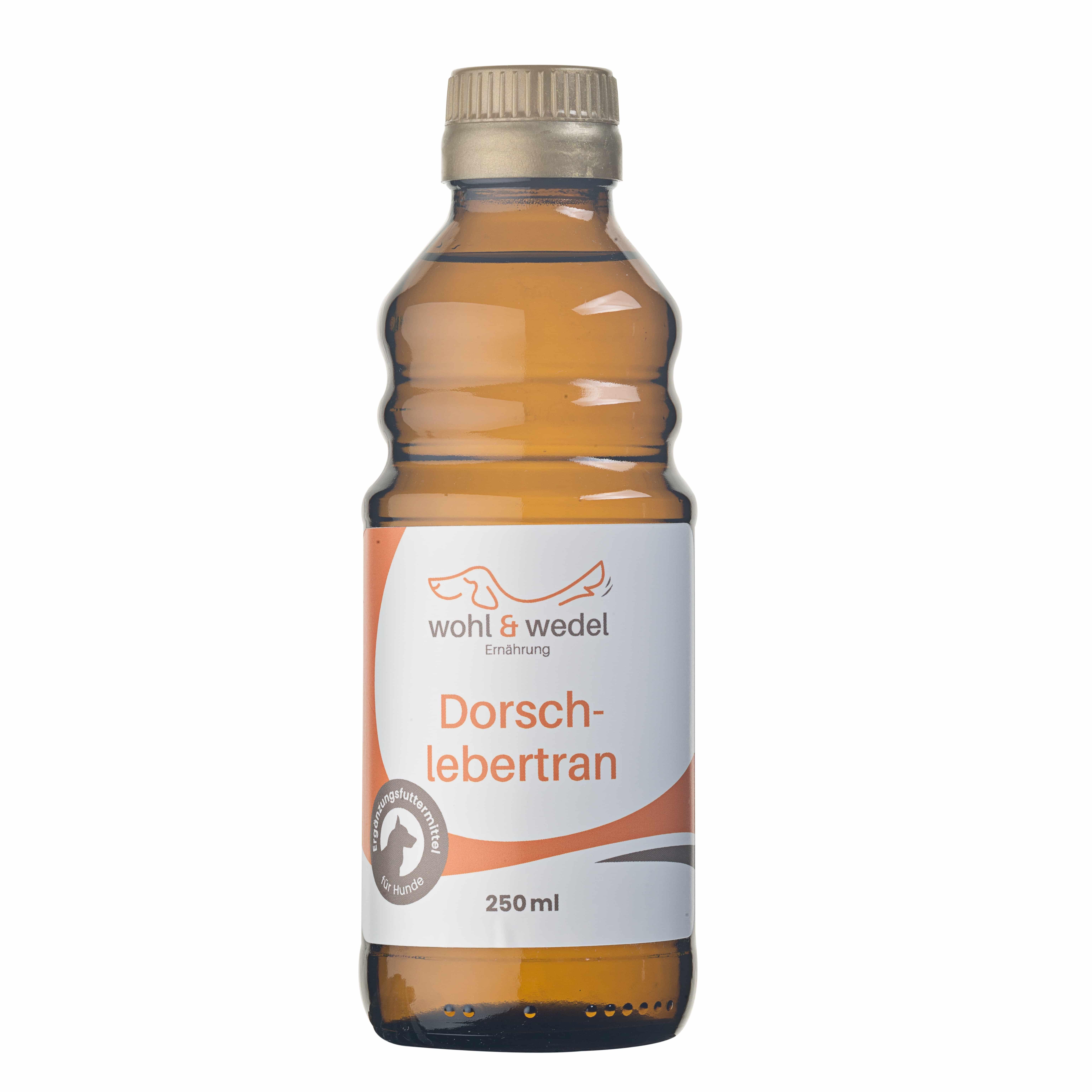 wohl & wedel Dorschlebertran mit natürlichem Vitamin E 250 ml
