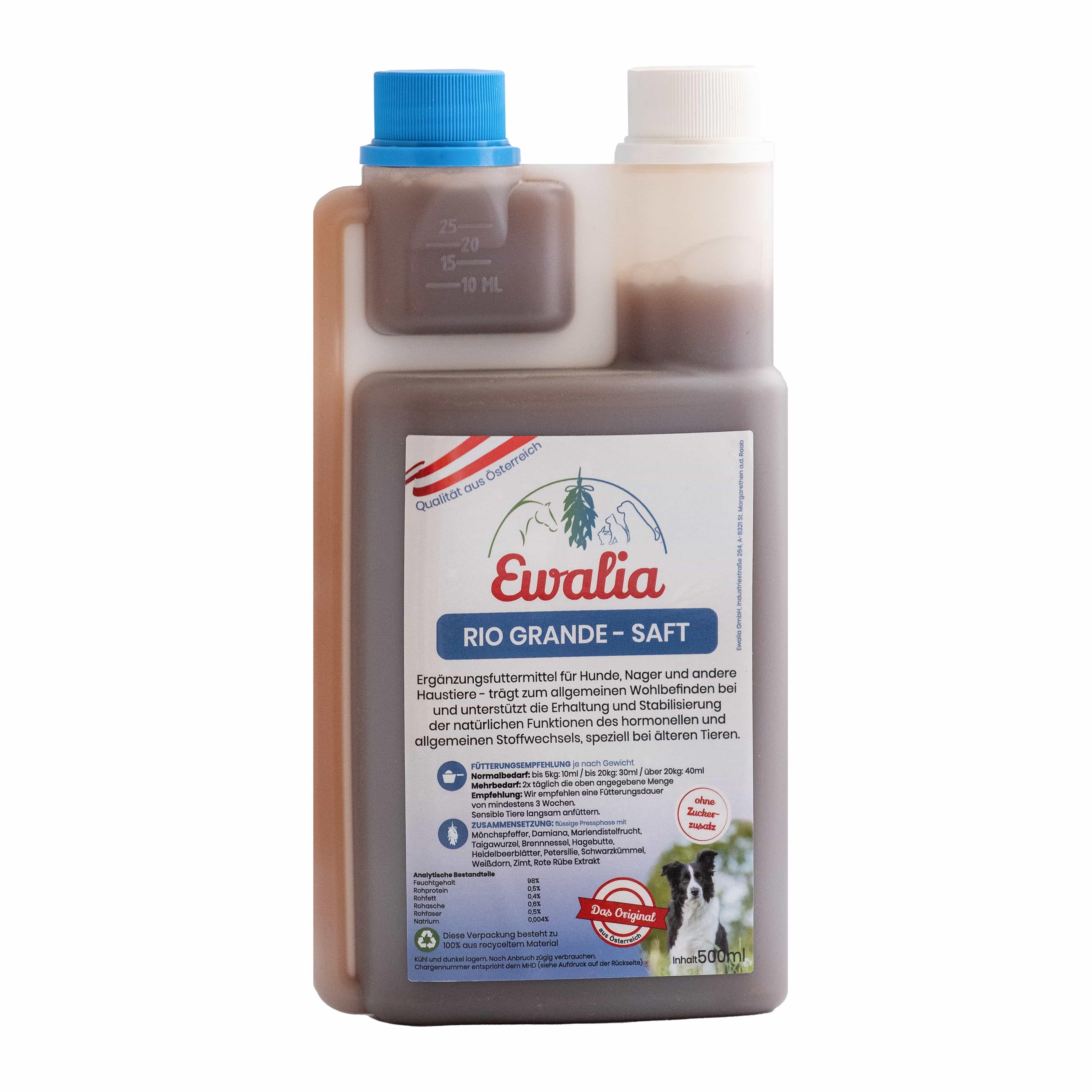 Ewalia Rio Grande-Saft für Hunde 500 ml