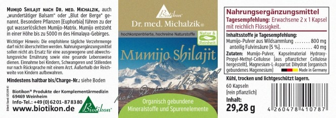 Biotikon Mumijo Shilajit 29,28 g