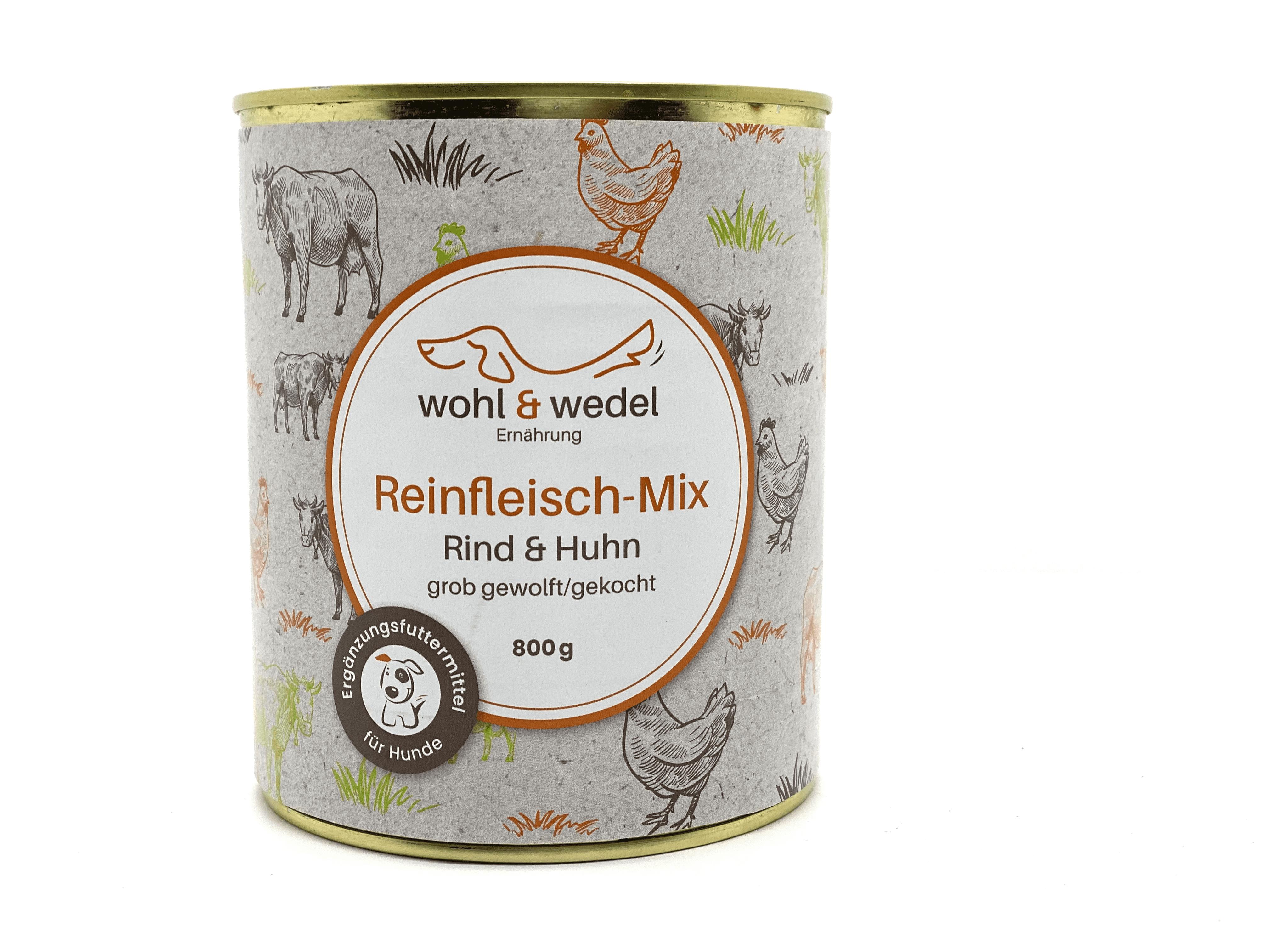 wohl & wedel Reinfleisch-Mix Rind/Huhn 800 g