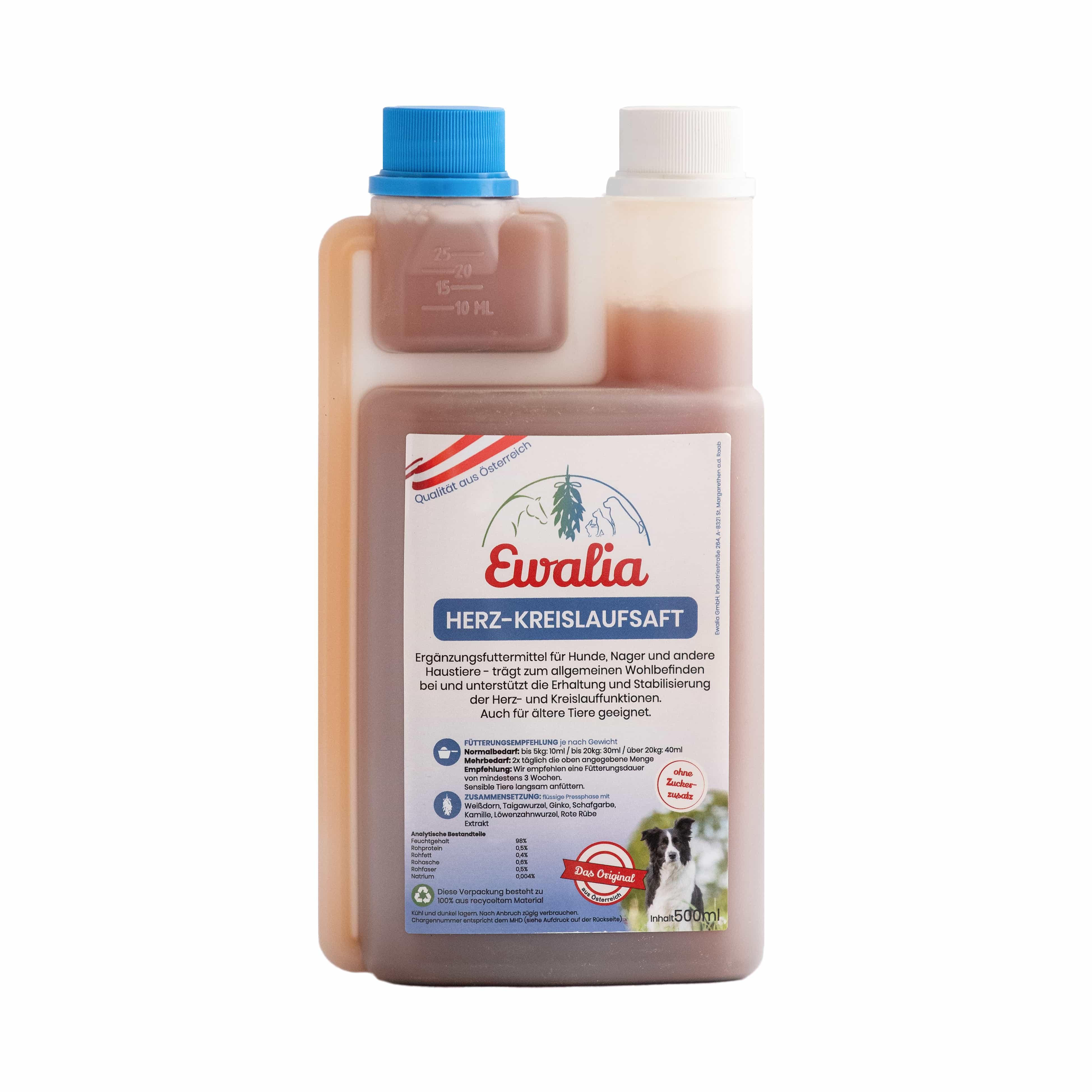 Ewalia Herz-Kreislaufsaft für Hunde 500 ml