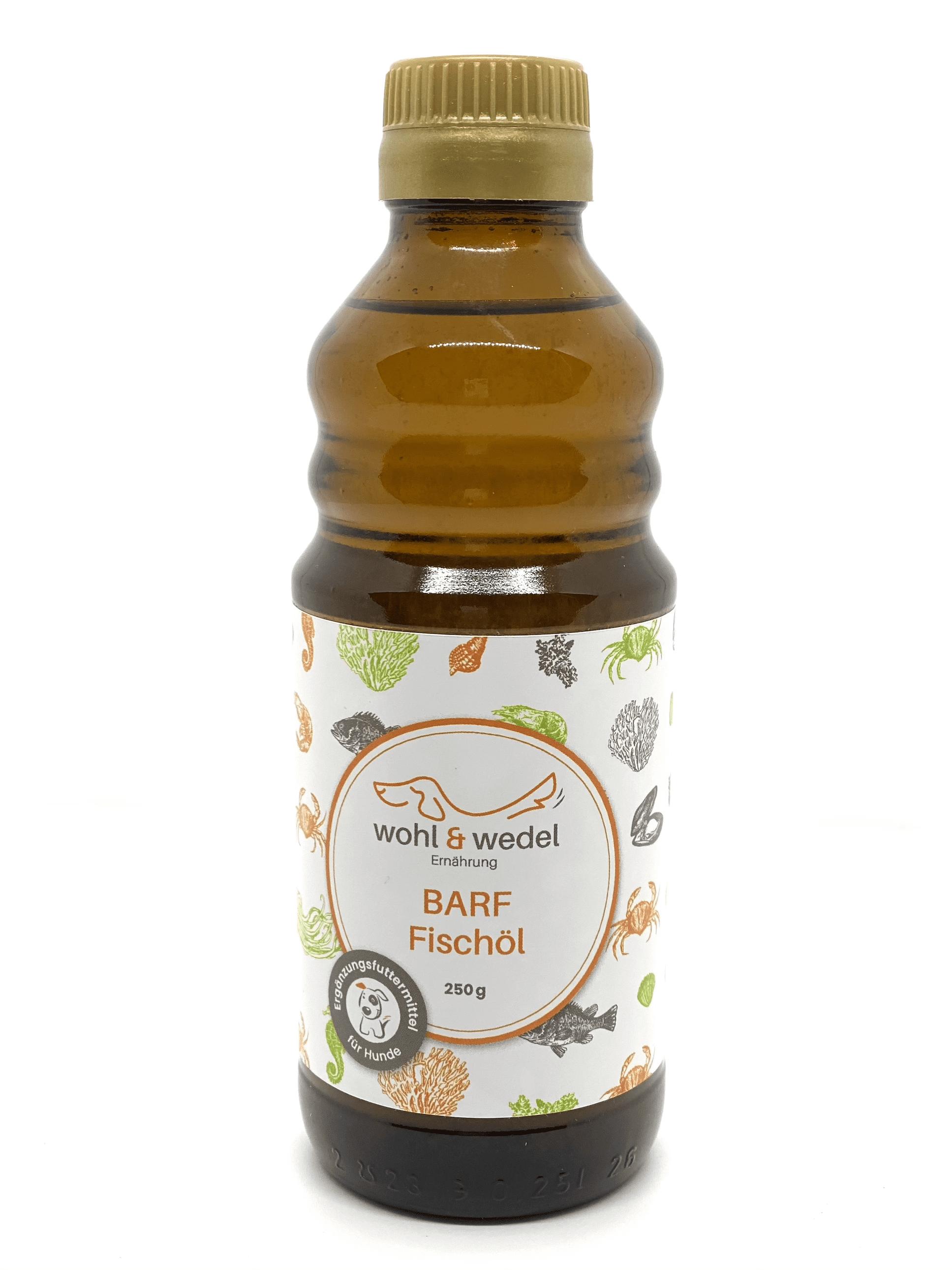 wohl & wedel BARF Fischöl mit natürlichem Vitamin E 250 ml