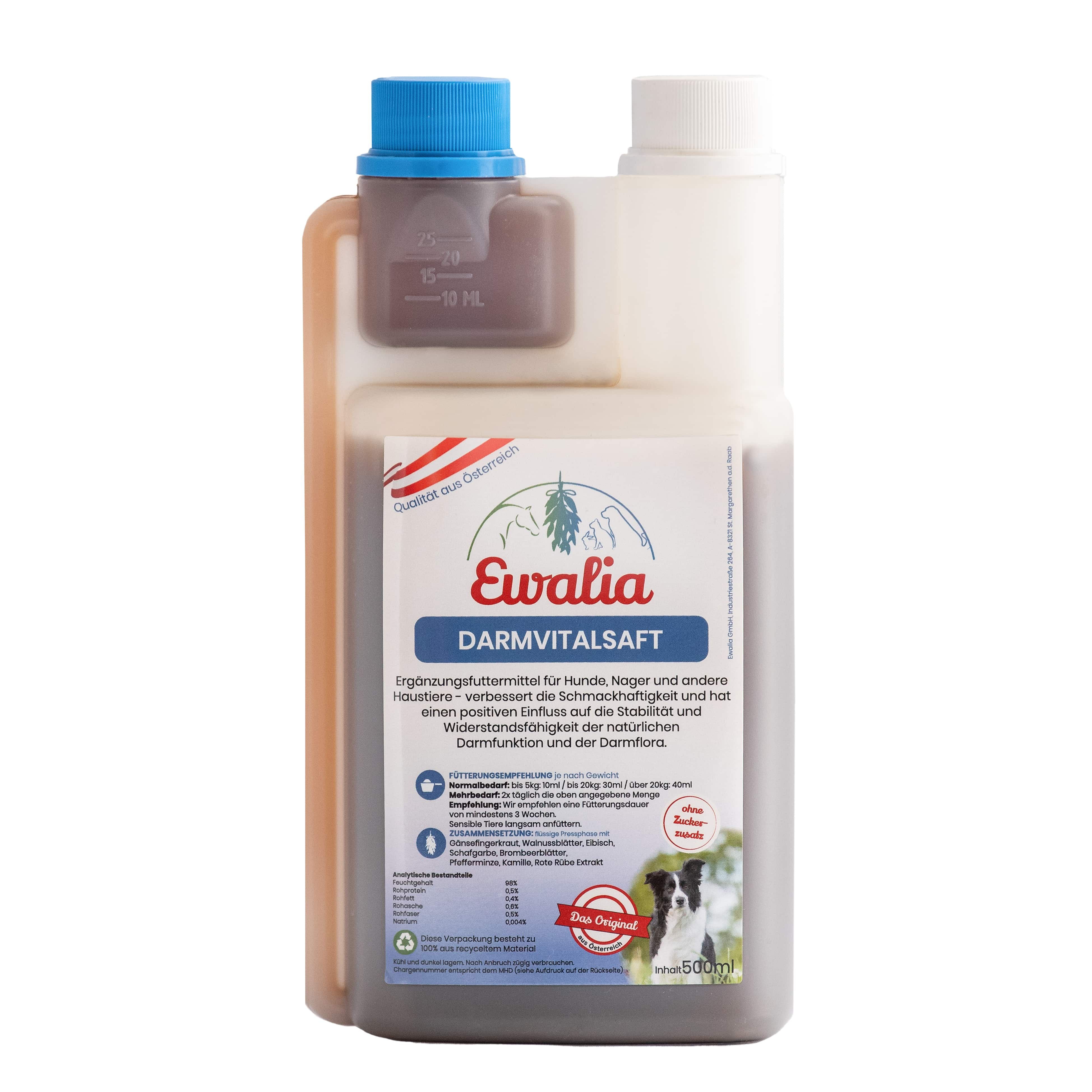 Ewalia Darmvitalsaft für Hunde 500 ml