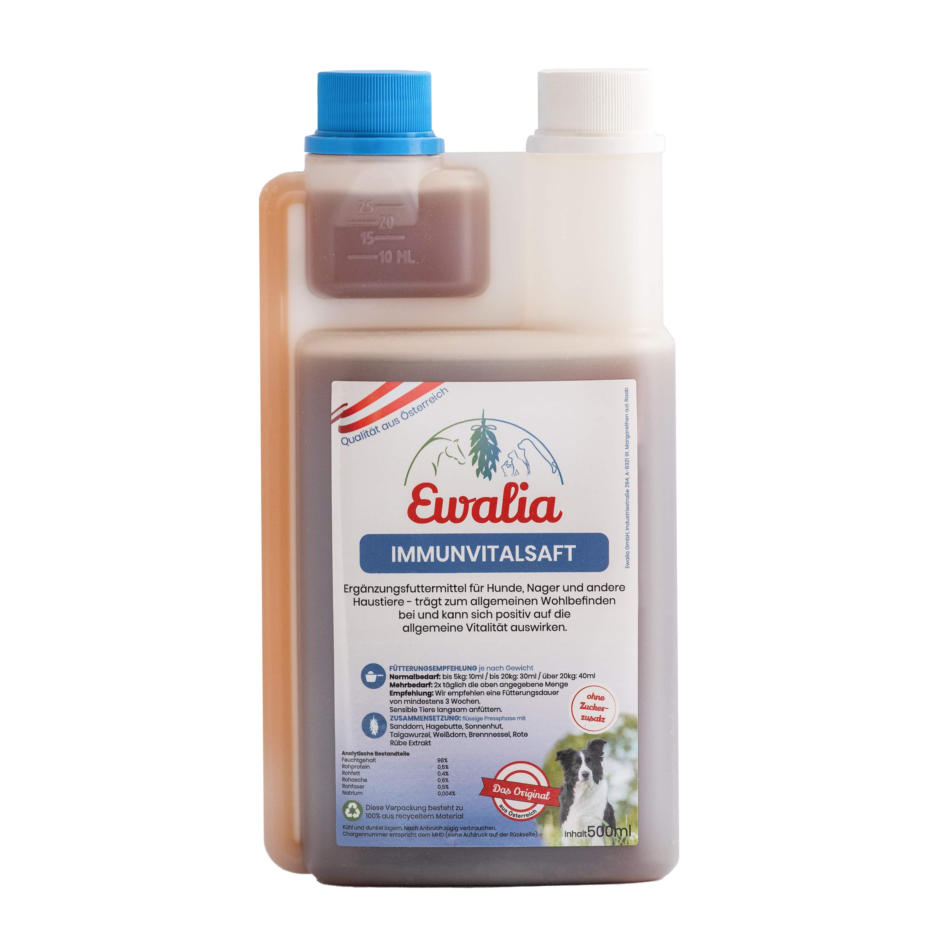 Ewalia Immunvitalsaft für Hunde 500 ml
