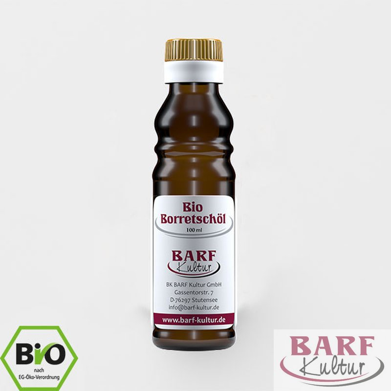 BARF Kultur Bio Borretschöl 100 ml - DE-ÖKO-007