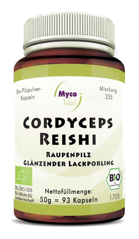Bio Cordyceps-Reishi  93 Kapseln - DE-ÖKO-007