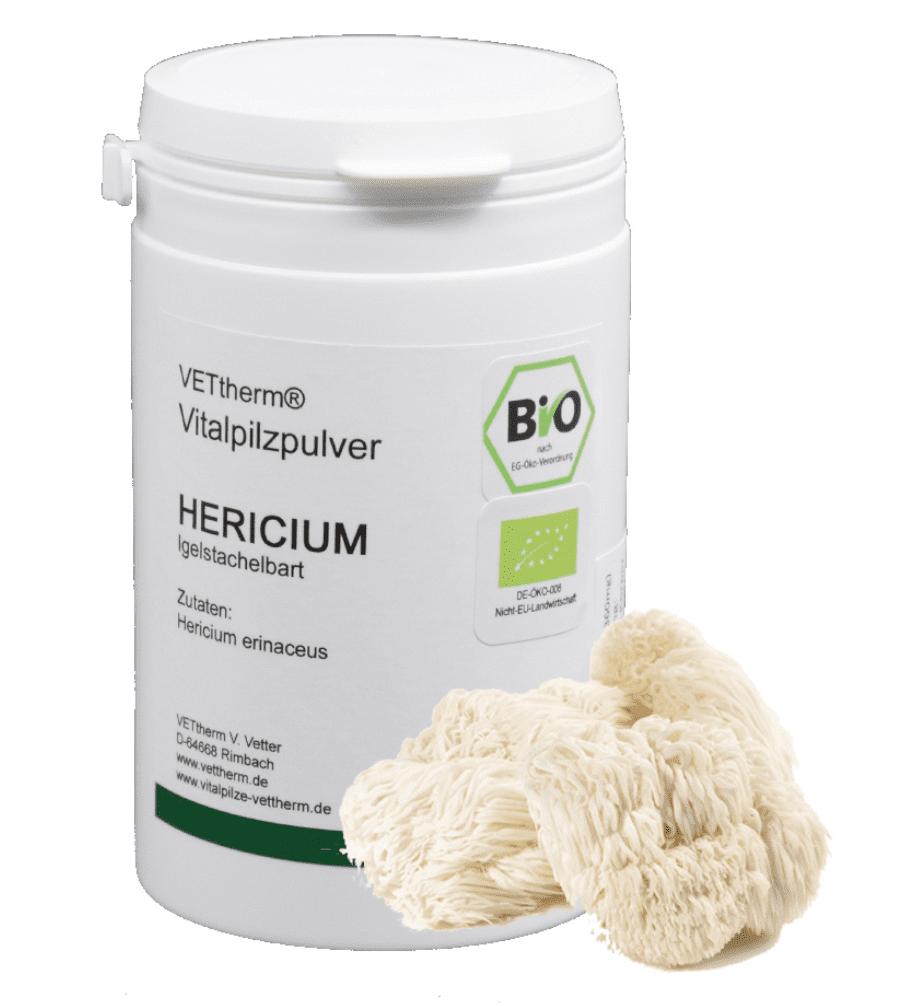 Bio Hericium erinaceus 200 Kapseln - DE-ÖKO-007