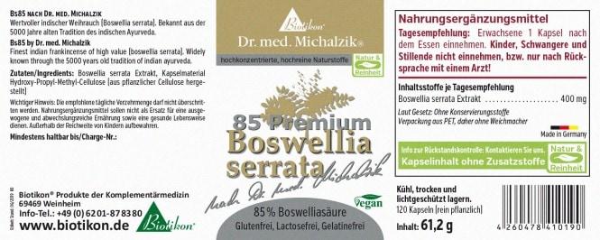 Biotikon Boswellia serrata, Weihrauch BS 85 61,2g