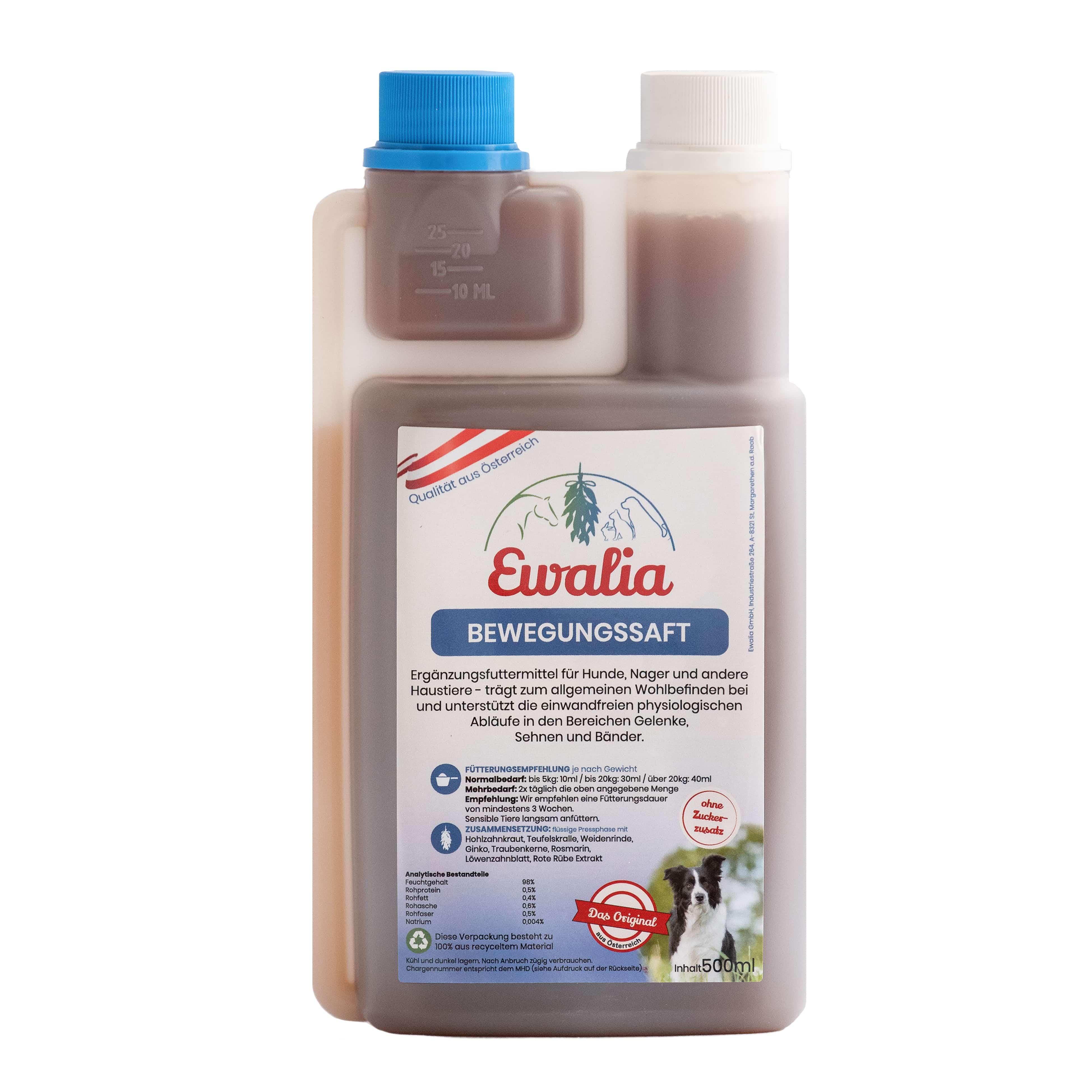 Ewalia Bewegungssaft für Hunde 500 ml