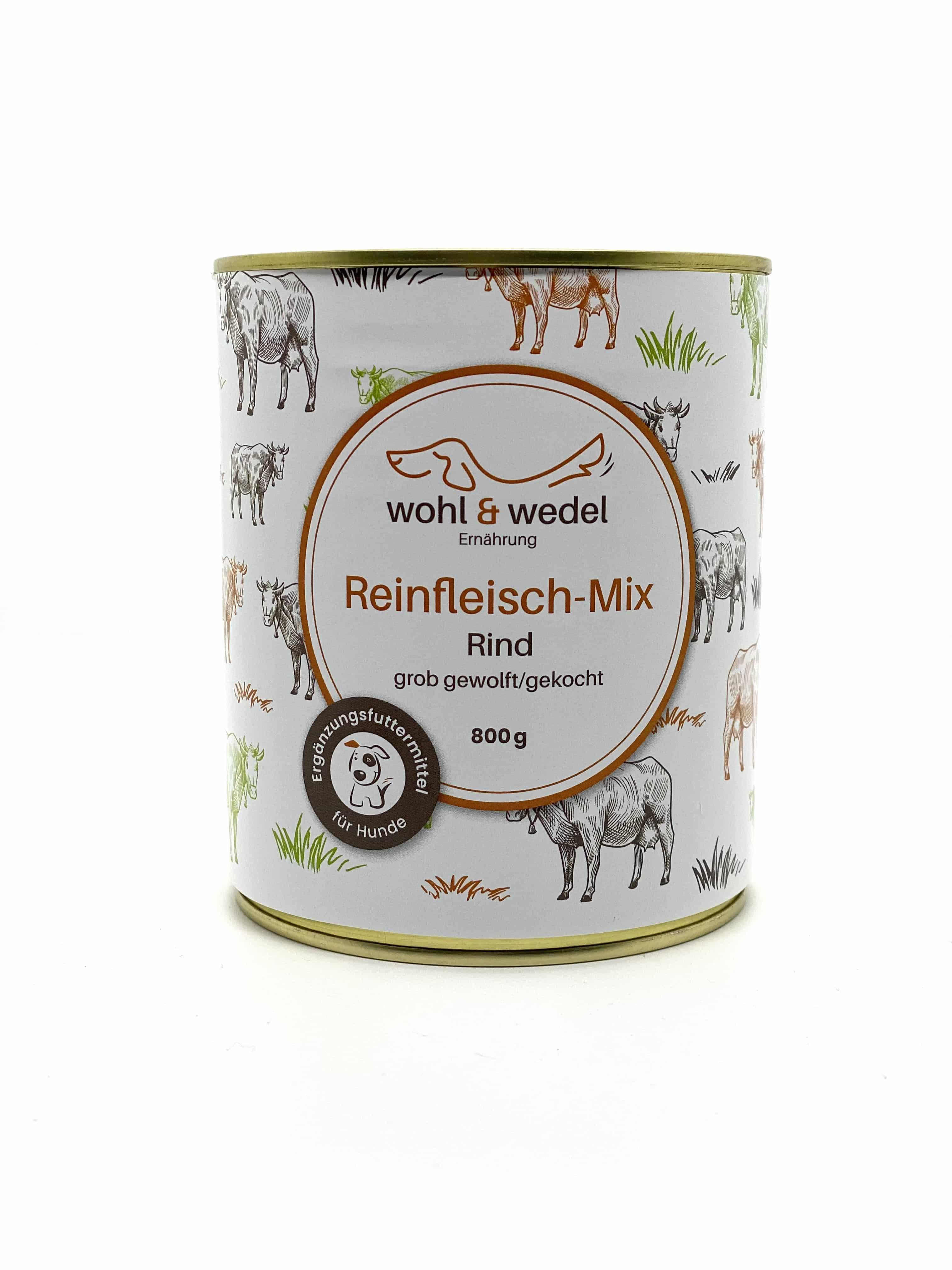 wohl & wedel BARF Fleisch-Mix Rind 800 g