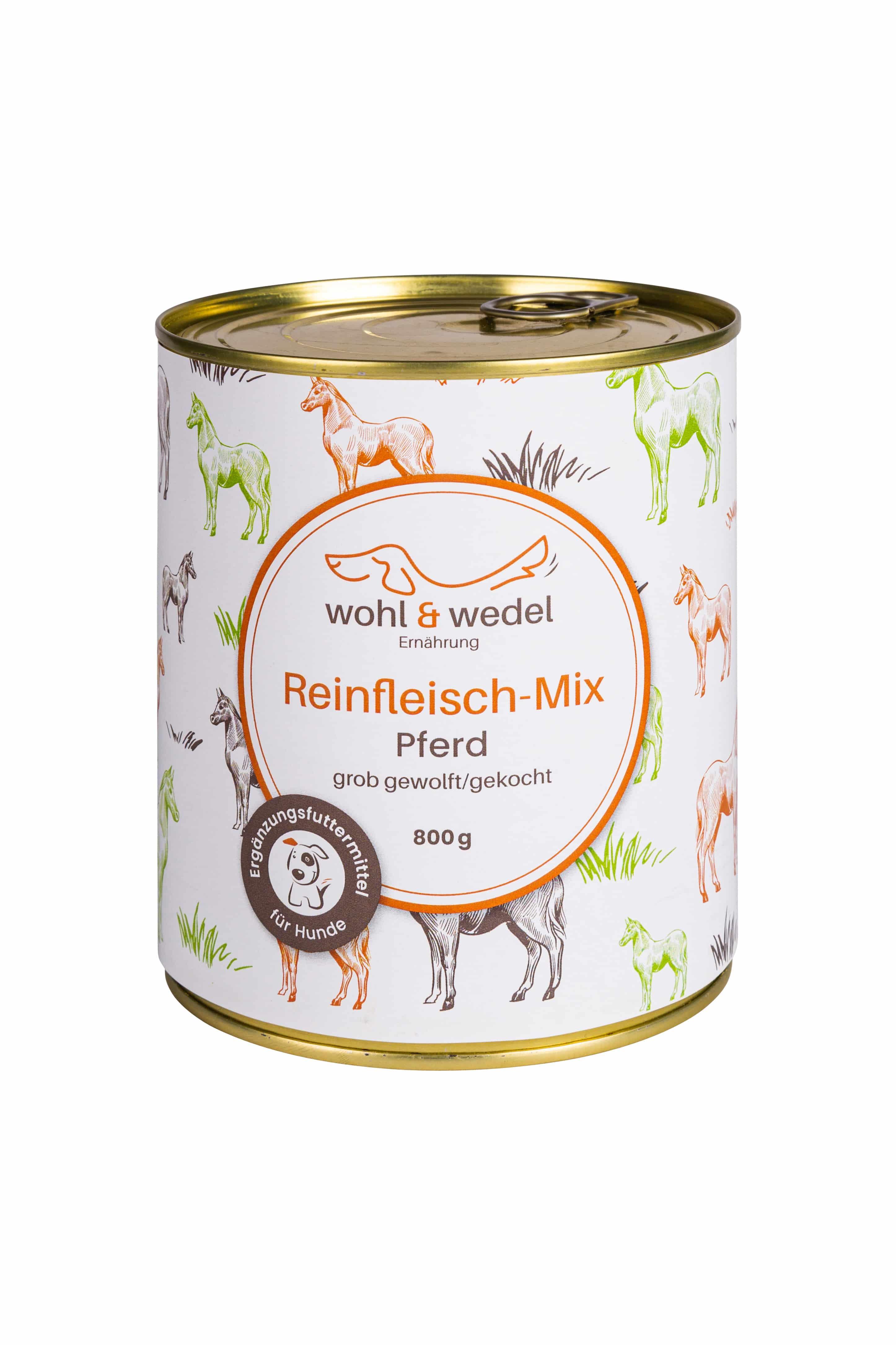 wohl & wedel BARF Fleisch-Mix Pferd 800 g