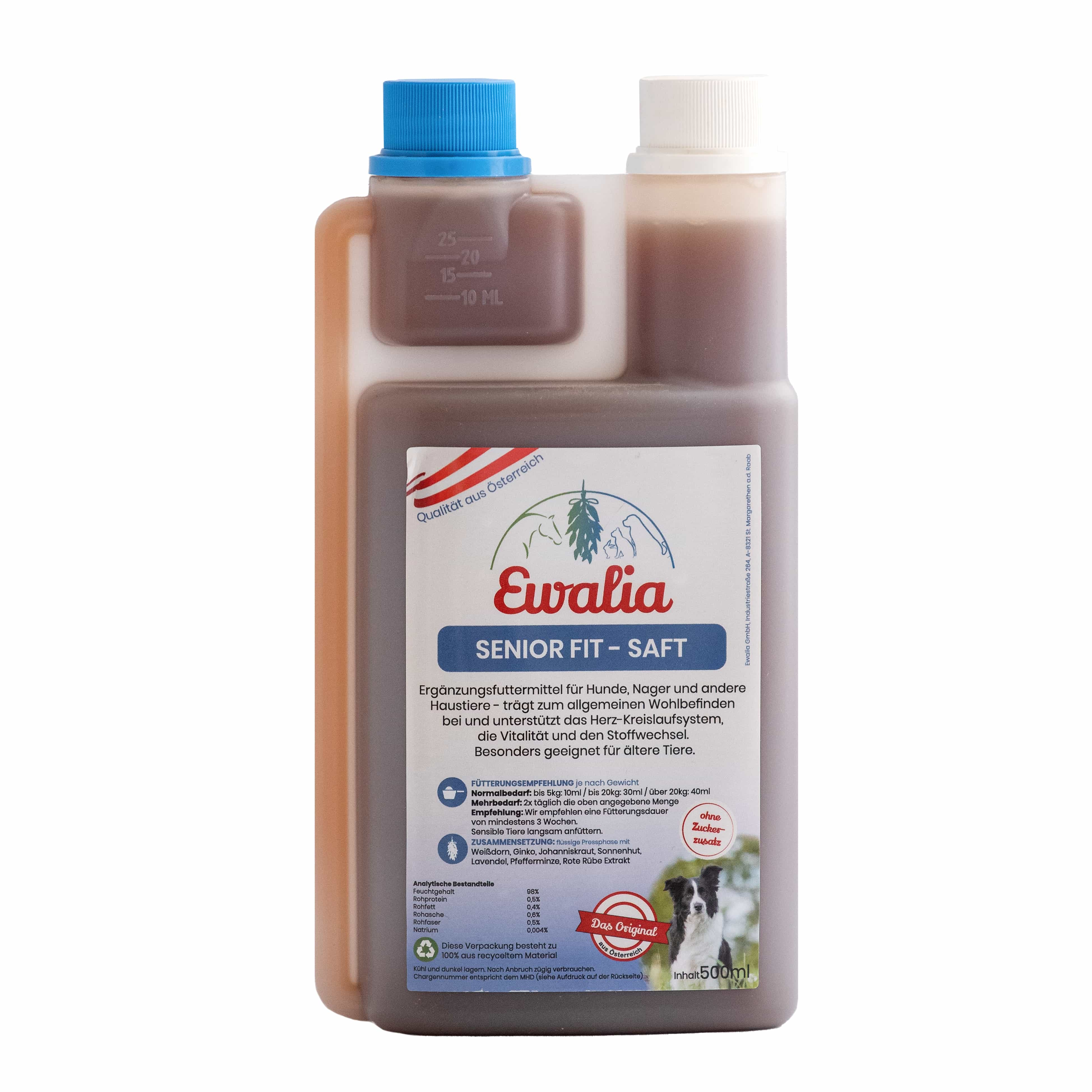 Ewalia Senior Fit-Saft für Hunde 500 ml